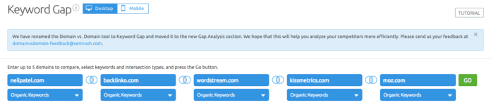 Keyword-Gap-SEMrush