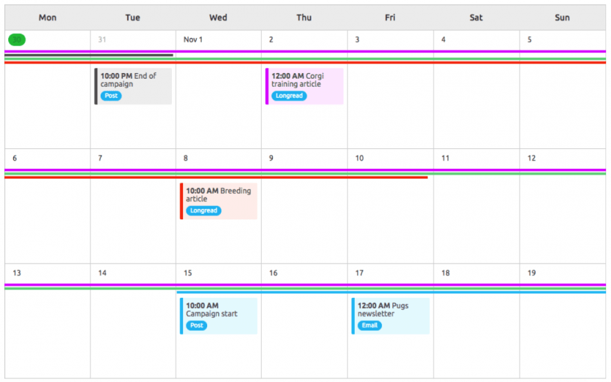 SEMrush Marketing Calendar Tool For Management