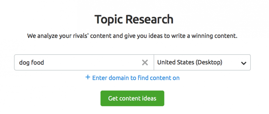 SEMrush-Topic Research Tool For Your Topic Research