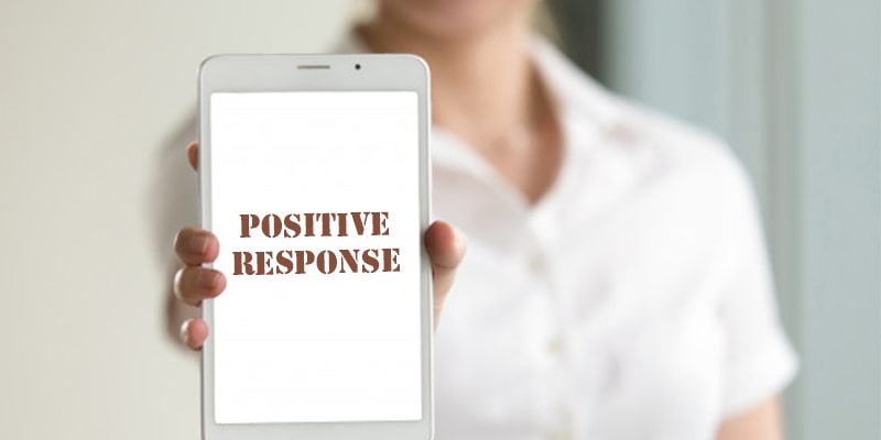Always reply with positive remarks to people who comment on your blog posts