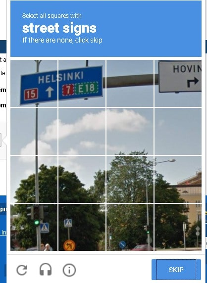 CAPTCHA to verify on semrush register