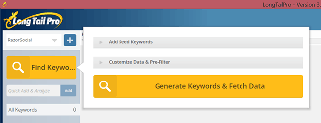 Find Longtail Keywords With LongtailPro