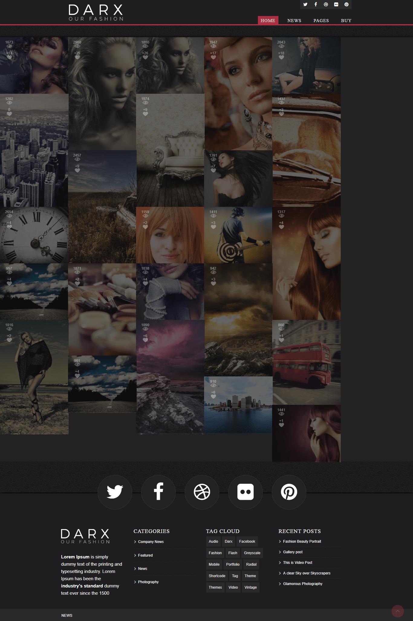 darx-wordpress-photography theme