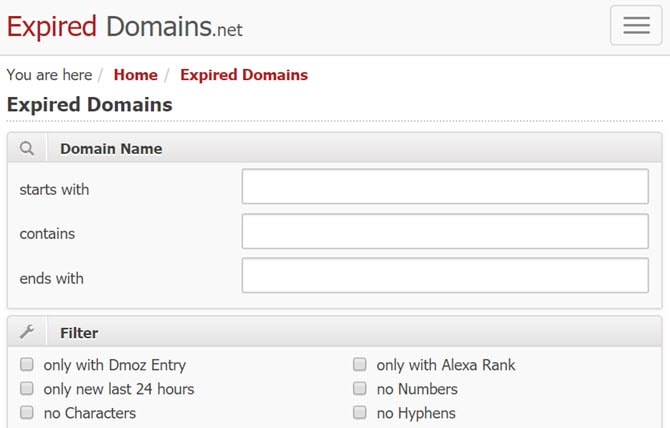 Buy an expired domains