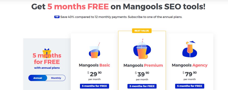 Mangools Price Tool Comparable to SpyFu