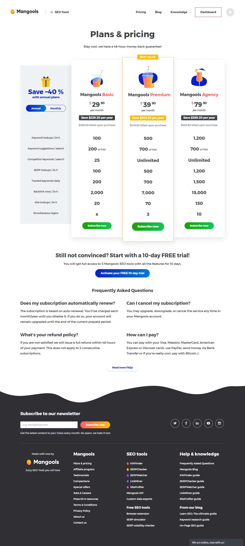 kwfinder pricing