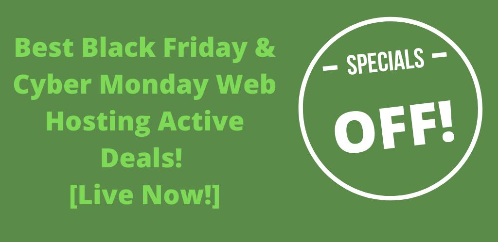 Best Black Friday -Cyber Monday Web Hosting Deals