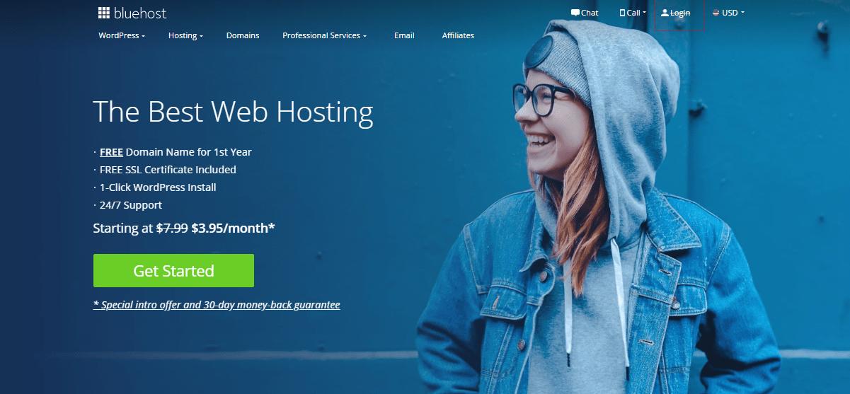 Sign up Bluehost Hosting Provider