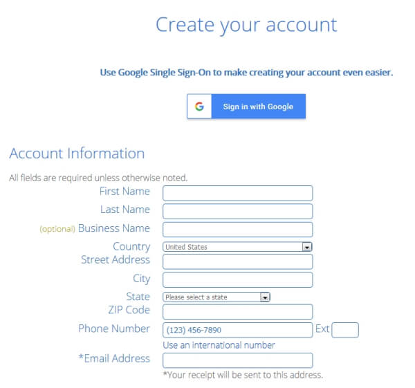 bluehost-account-create