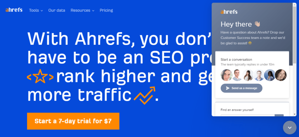Ahrefs for customer support