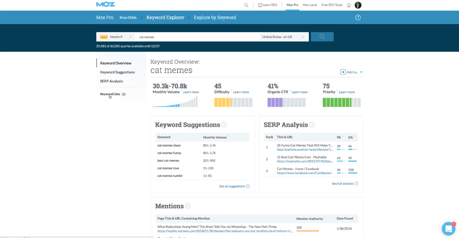 Moz-Pro-for-keyword-research