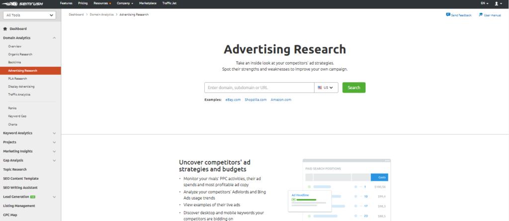 SEMrush-For-Advertising-Research
