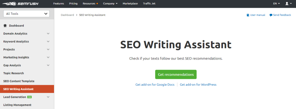 SEMrush-SEO-Writing-Assistant