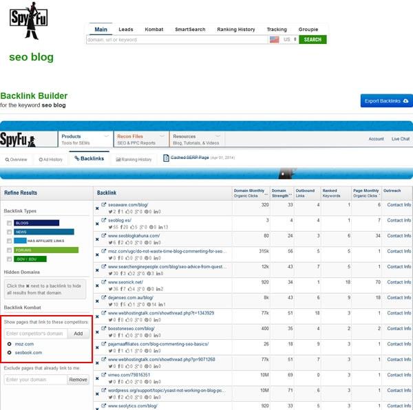 SpyFu-For-Backlinks-Outreach