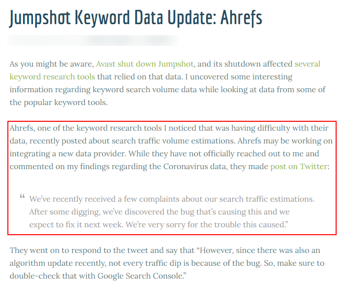 Keyword-Data-Ahrefs-Complaints