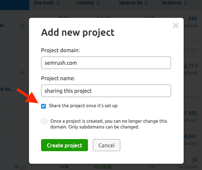 Share A New Projects with Your New Users