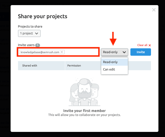 Share A New Projects with Your New Users2